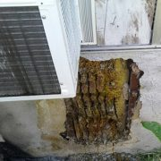 Mission Viejo Bee Removal - Honeycomb in wall next to AC unit